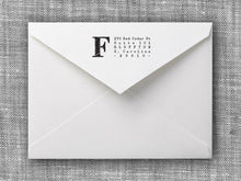 Franklin Rectangle Personalized Self Inking Return Address Stamp on Envelope