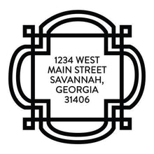 Emily McCarthy Fretwork Personalized Self-inking Round Return Address Stamp