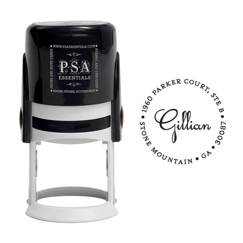 Gillian Return Address Stamp