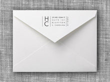 Harold Rectangle Personalized Self Inking Return Address Stamp on Envelope