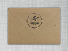 Island Palm Self Inking Stamp Design on Envelope