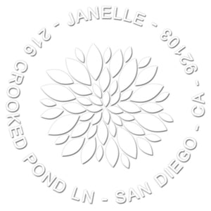 Janelle Return Address Embosser