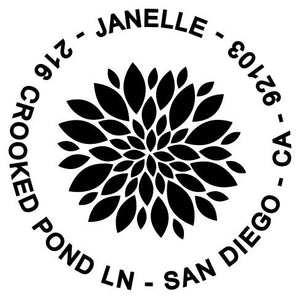 Janelle Return Address Stamp Design
