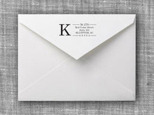 Kirkpatrick Rectangle Personalized Self Inking Return Address Stamp on Envelope