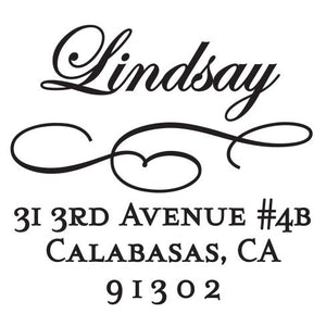 Lindsay Return Address Self Inking Stamp
