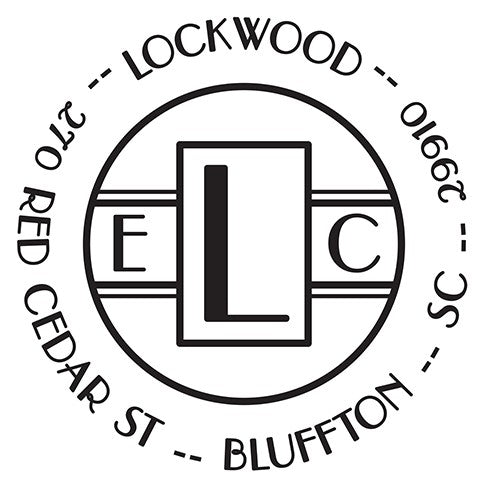 Lockwood Personalized Self-inking Round Return Address Stamp on Envelope