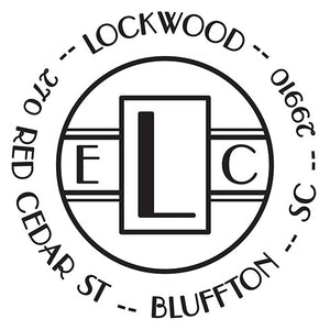 Lockwood Personalized Self-inking Round Return Address Stamp