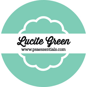 Lucite Mint Green Ink Pad Cartridge Round