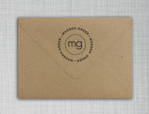 Maegen Personalized Self-inking Round Return Address Stamp on Envelope