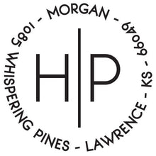 Morgan Personalized Self-inking Round Return Address Design