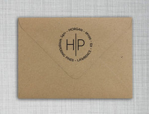 Morgan Personalized Self-inking Round Return Address Design on Envelope