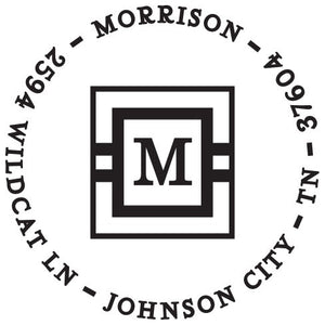 Morrison Personalized Self-inking Round Return Address Design