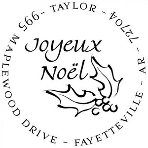 Noel Personalized Self-inking Round Return Address Design