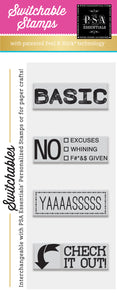 PSA Essentials Basic Switchable Craft Stamp Pack