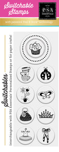 PSA Essentials Cupcake Switchable Craft Stamp Pack