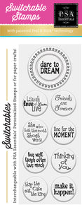 PSA Essentials Dare to Dream Switchable Craft Stamp Pack