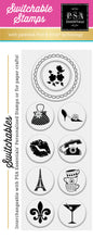 PSA Essentials Frenchie Switchable Craft Stamp Pack