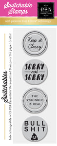 PSA Essentials Keep it Classy Switchable Craft Stamp Pack