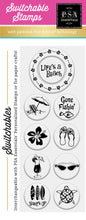 PSA Essentials Life's a Beach Switchable Craft Stamp Pack