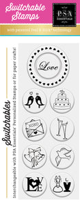 PSA Essentials Love Birds Switchable Craft Stamp Pack