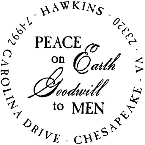 Peace Personalized Self-inking Round Return Address Design on Envelope
