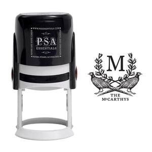 Emily McCarthy Pheasants Monogram Stamp - PSA Essentials