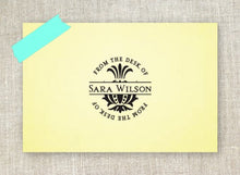 Pineapple Personalized Self-inking Round Return Address Design on Envelope
