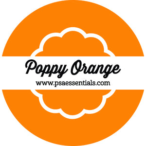 Poppy Orange Ink Pad Cartridge Round