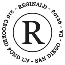 Reginald Personalized Self-inking Round Return Address Design
