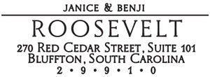 Roosevelt Rectangle Personalized Self Inking Return Address Stamp