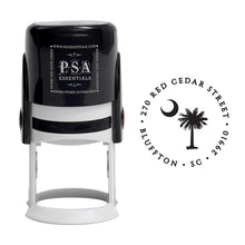 SC Palm & Crescent Return Address Stamp