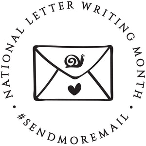 Snail Mail Personalized Self-inking Round Return Address Stamp