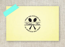 Spoons Personalized Self-inking Round Return Address Stamp on Note pad