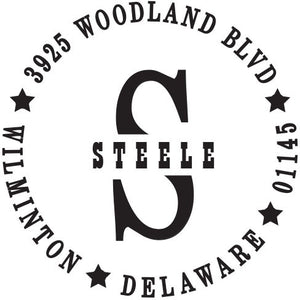 Steele Personalized Self-inking Round Return Address Stamp