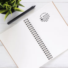 Pencil Personalized Self-inking Round Return Address Stamp on Note Pad