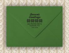 The Personalized Self-inking Round Return Address Stamp on Envelope