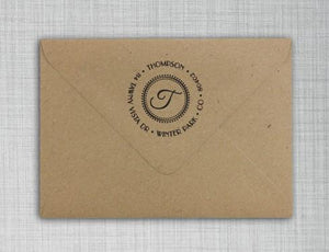 Thompson Personalized Self Inking Return Address Stamp on Envelope