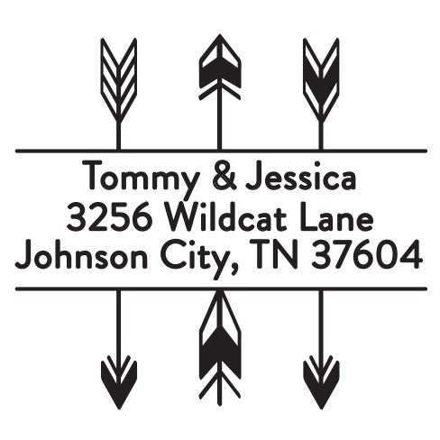Tommy Personalized Self Inking Return Address Stamp