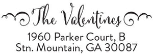 Valentine Return Address Stamp