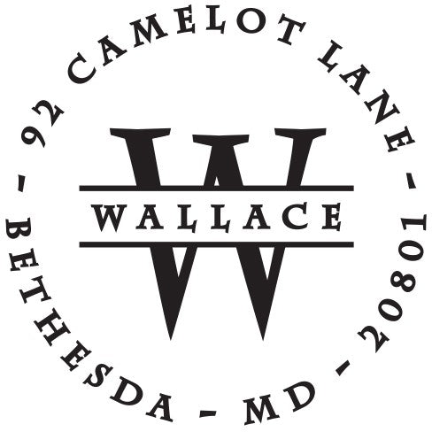 Wallace Round Personalized Self Inking Return Address Stamp