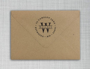 Wallace Round Personalized Self Inking Return Address Stamp Envelope