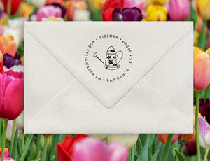 Watering Can Return Address Stamp