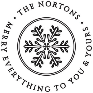 Winter Snow Return Address Stamp Design