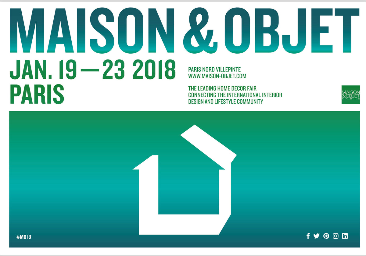 Join us at Paris Design Show Maison & Objet : Jan 19-23!