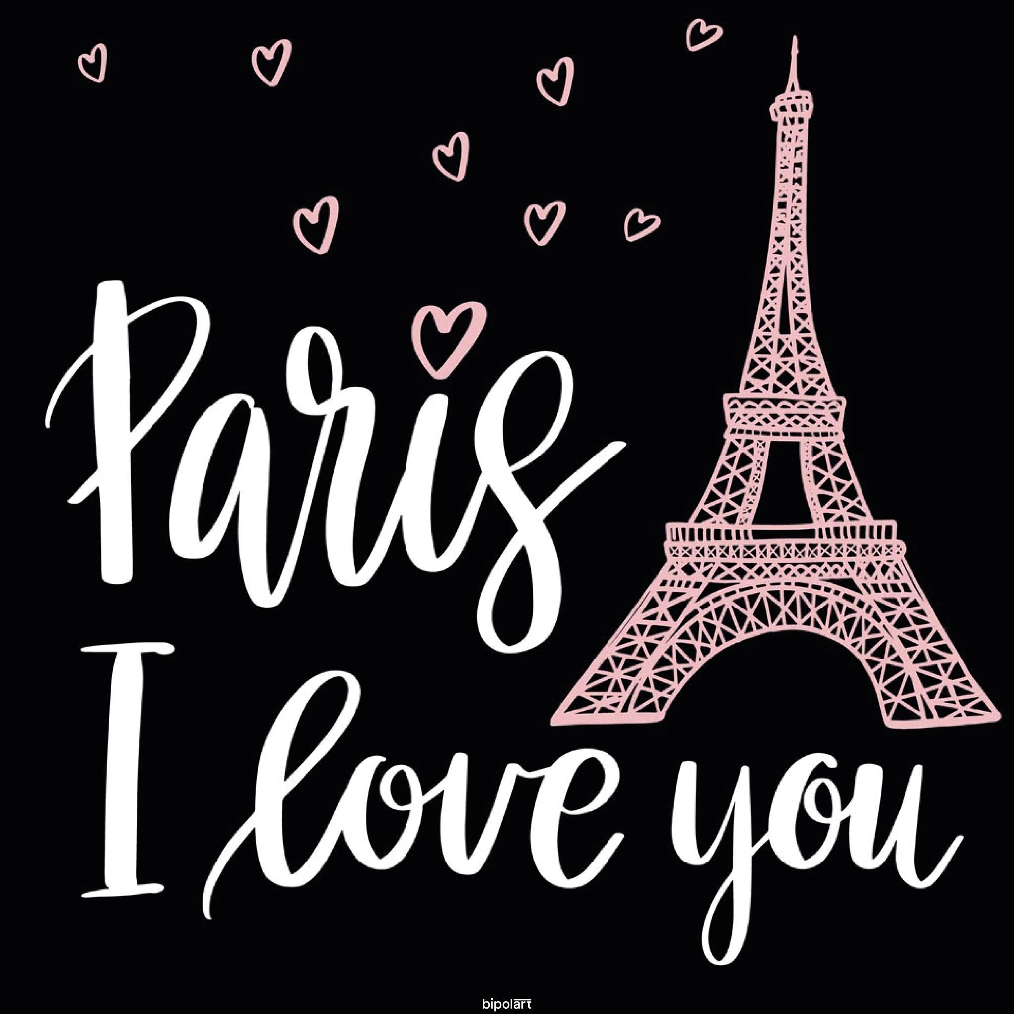 Dining Table Square Top PARIS I LOVE YOU Square Pink