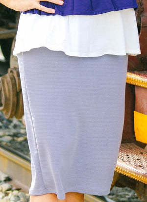 Light Grey MD Pencil Skirt