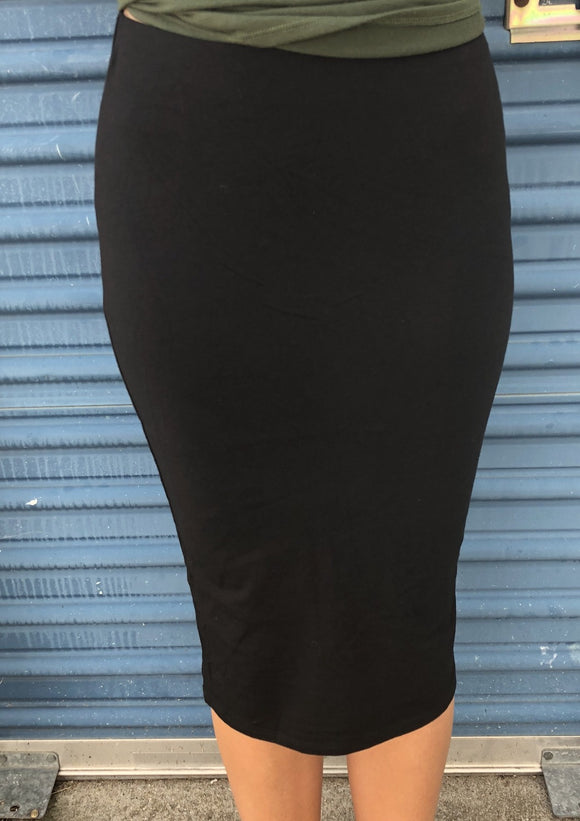 Black T-shirt Skirt