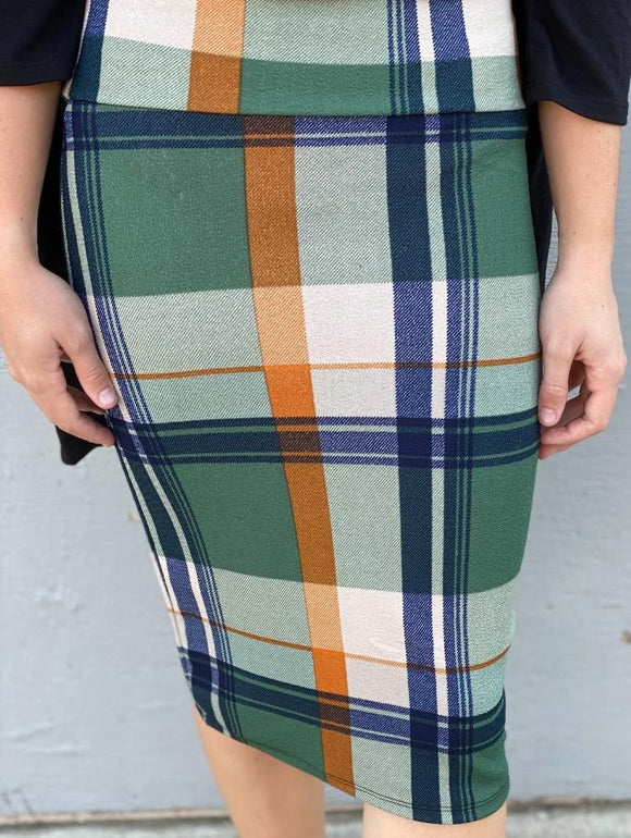 Green Plaid MD Skirt