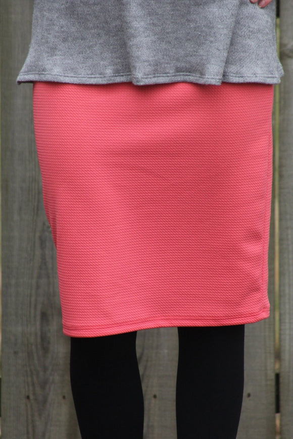 Coral MD Pencil Skirt