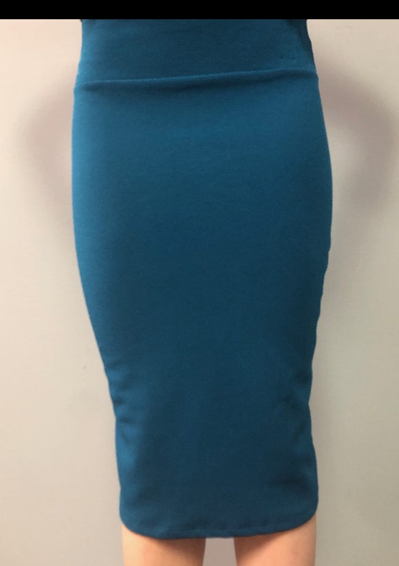 Teal MD Pencil Skirt